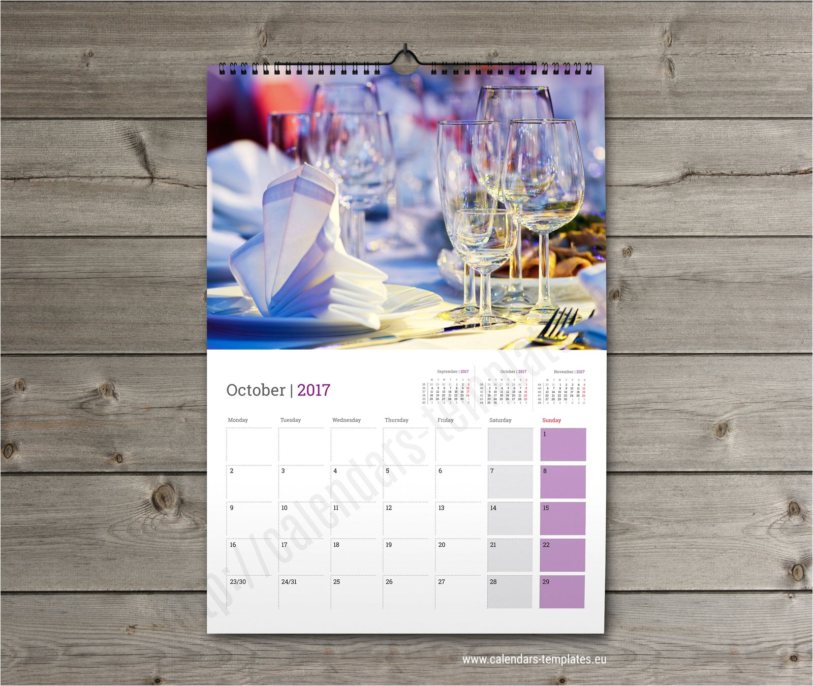 Photo Wall Calendar Template Monthly Wall Planner 2018 Template Printable Photo Wall