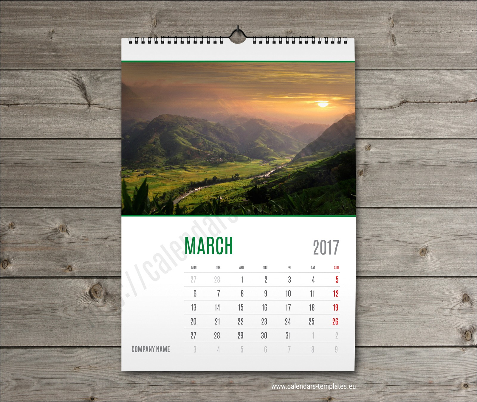 Photo Wall Calendar Template Wall Calendar 2018 Template Monthyly Yearly Wall Custom