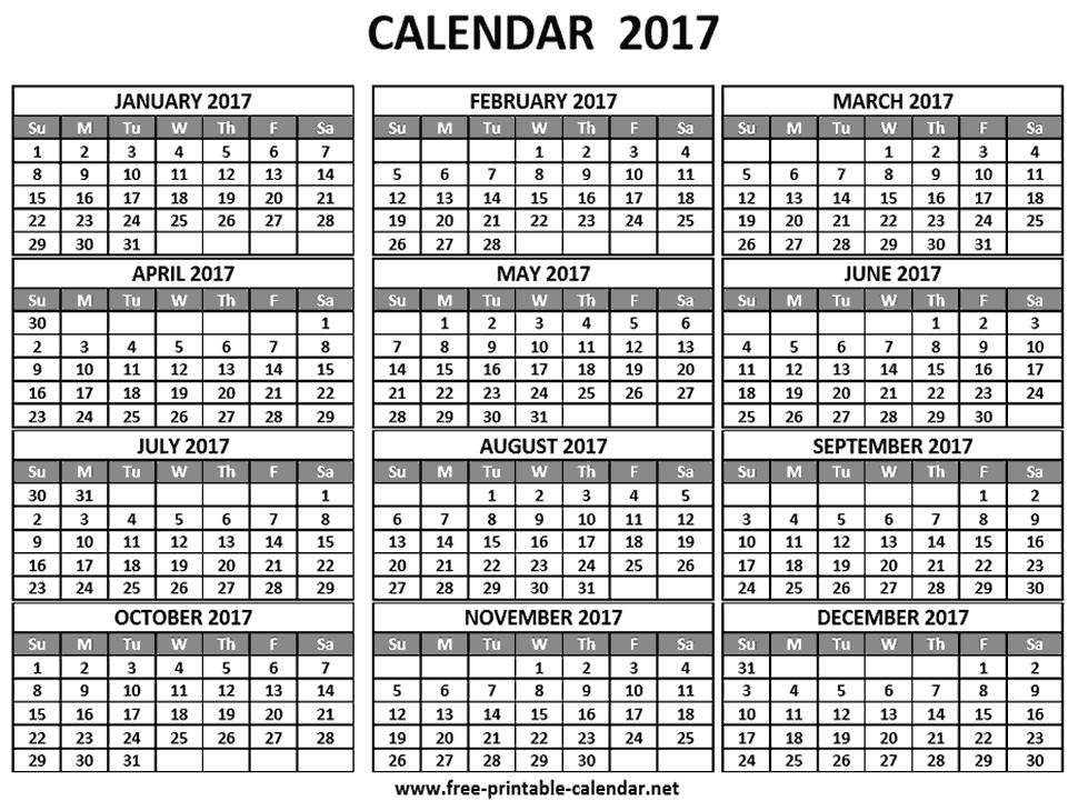 Pocket Calendar Template 2017 2018 Page 2