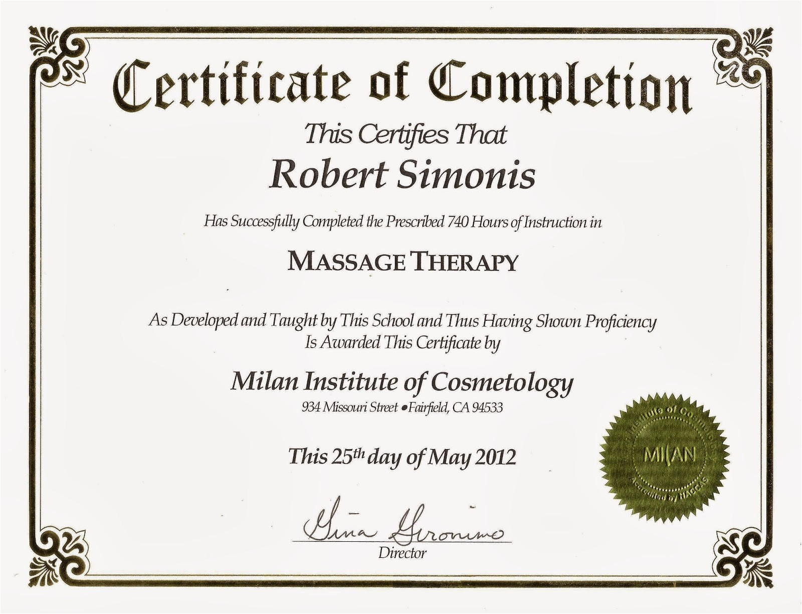 drug rehab completion certificate