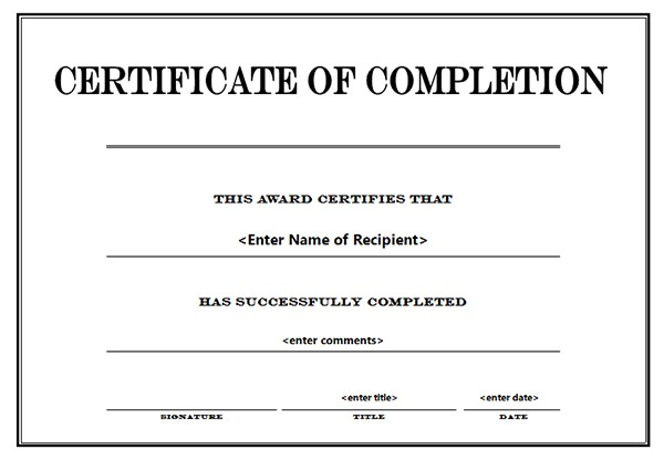 marriage 20counseling 20certificate 20of 20completion 20template