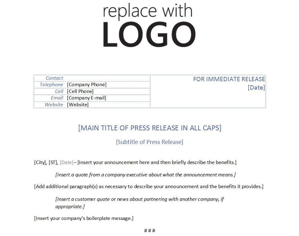 Press Release Calendar Template Template for Press Release Template Press Release