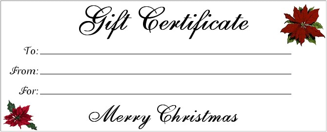 Printable Gift Certificate Template 18 Gift Certificate Templates Excel Pdf formats