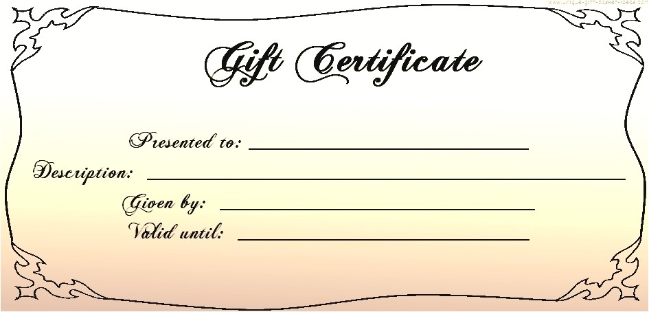 30 printable gift certificate templates