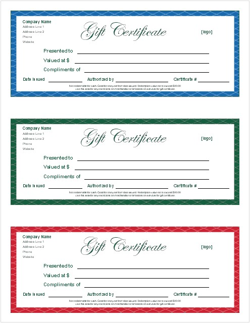 Printable Gift Certificate Template Free Gift Certificate Template and Tracking Log