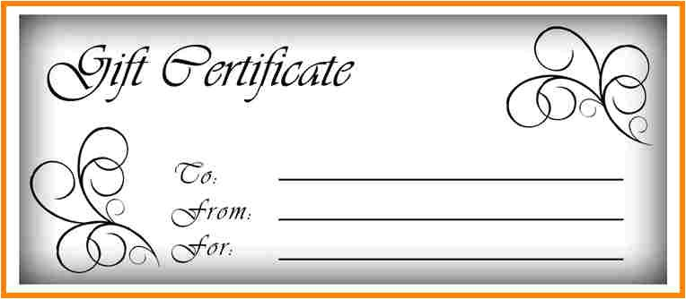 Printable Gift Certificate Template Free Gift Certificate Template Calendar Template Letter