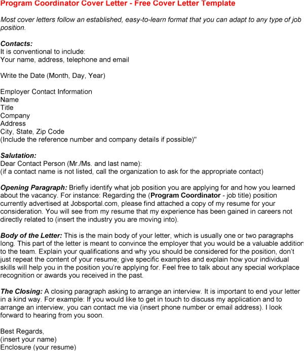 Program Director Cover Letter Template Program Coordinator Resume Resume Badak