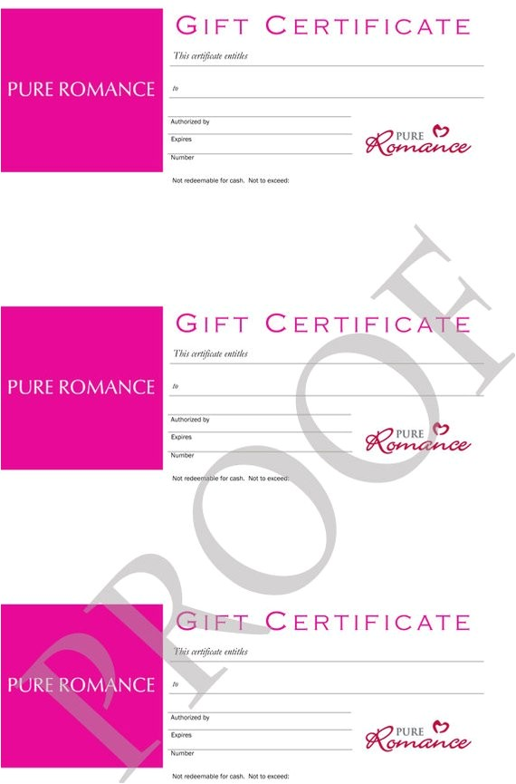 pure romance gift certificates digital