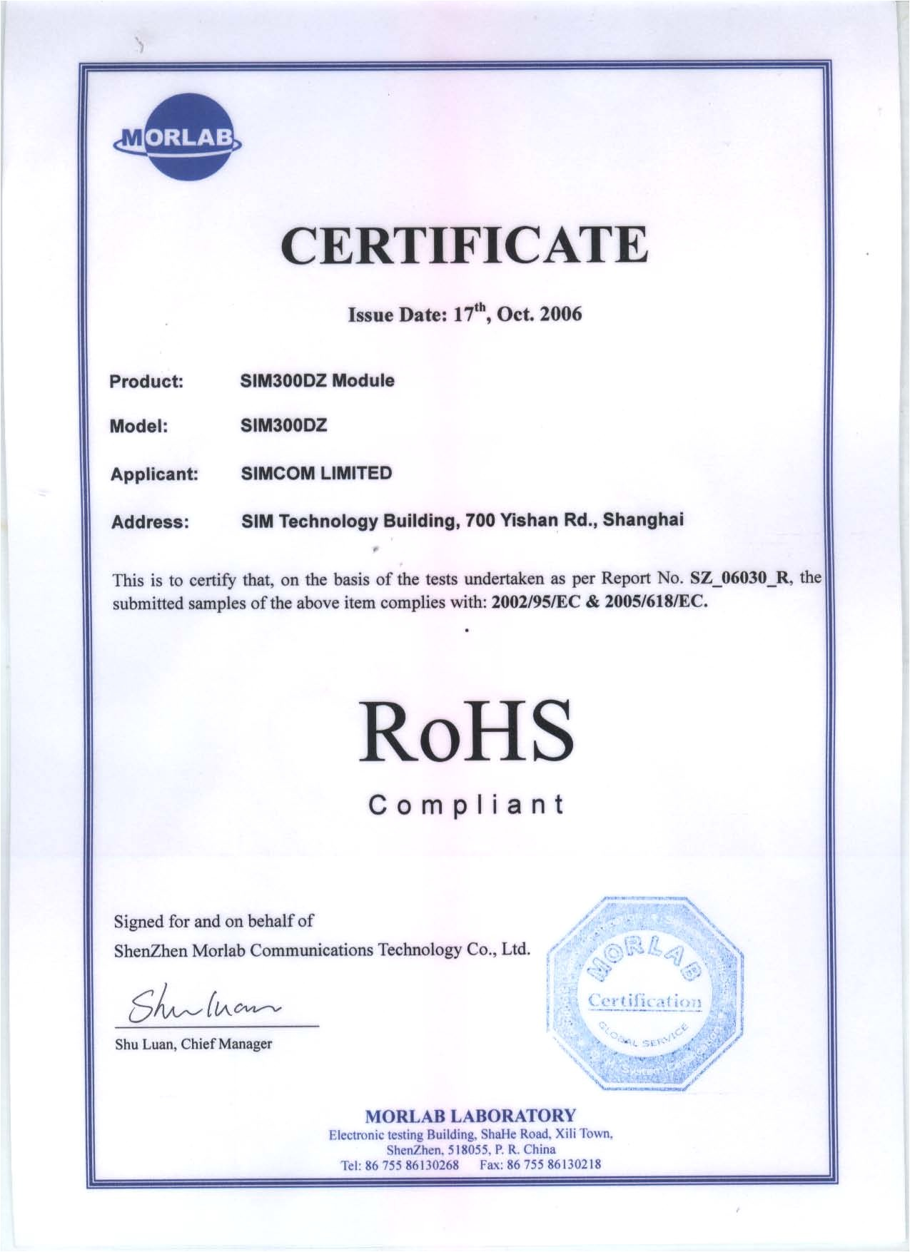 Rohs Compliance Certificate Template Pin Rohs Certificate Of Compliance On Pinterest