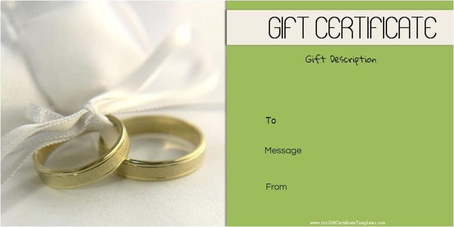 anniversary gift certificate templates