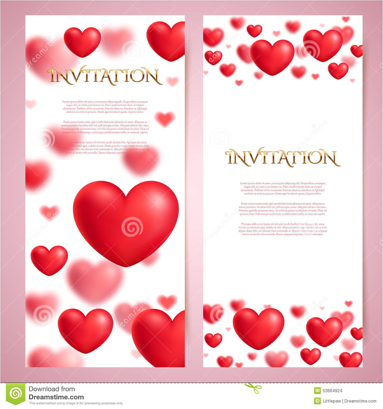 Romantic Gift Certificate Template Voucher Templates with Red Bow Ribbons Design Usable for