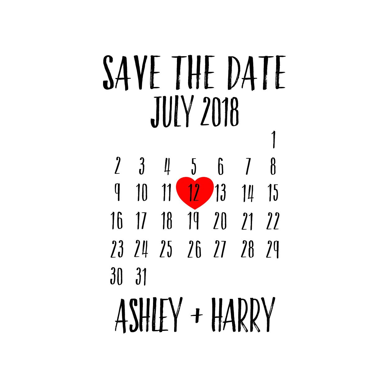Save the Date Calendar Template 2018 Custom Save the Date Calendar Stamp Personalized Stamp