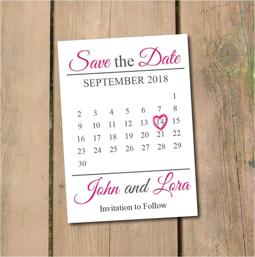 Save the Date Calendar Template 2018 Save the Date Calendar Template Save the Date Postcard