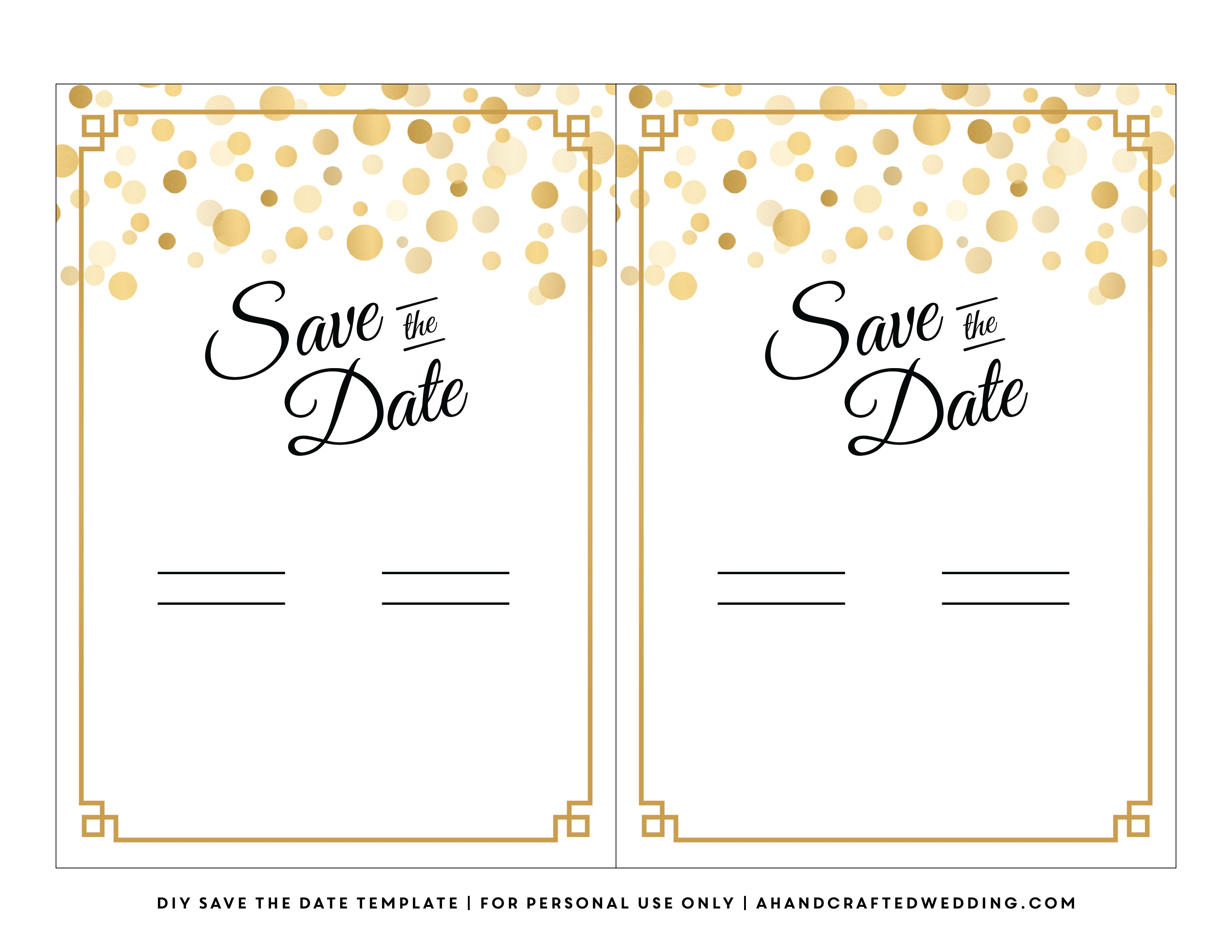 save the date printable template 672
