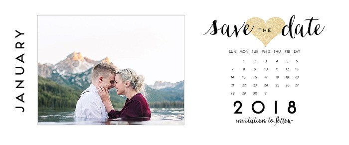 Save the Date Calendar Template 2018 Save the Dates