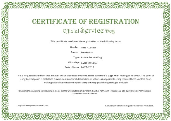 free certification template