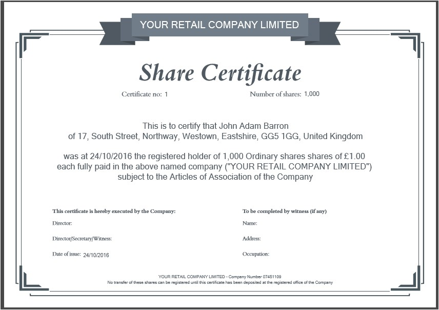 Shareholders Certificate Template Free Another Inform Direct Product Update October 2016