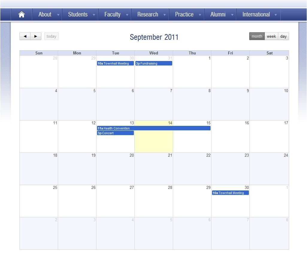 sharepoint calendar widget