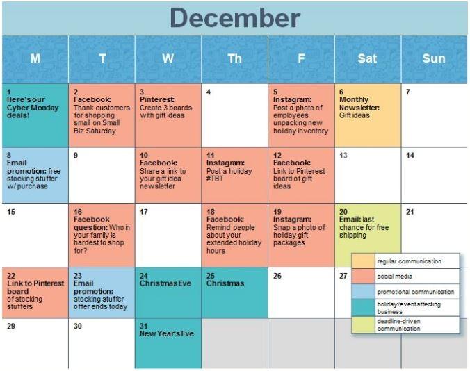 planning 2017 create social media calendar