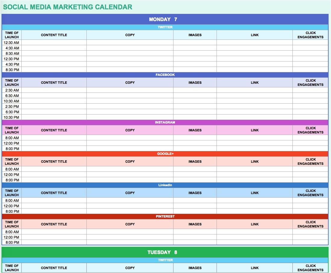 social media calendar excel 238