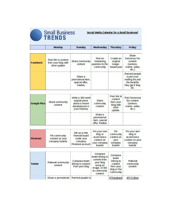 Social Media Editorial Calendar Template Excel social Media Calendar Template 7 Free Word Excel Pdf