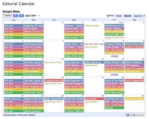 social media calendar template