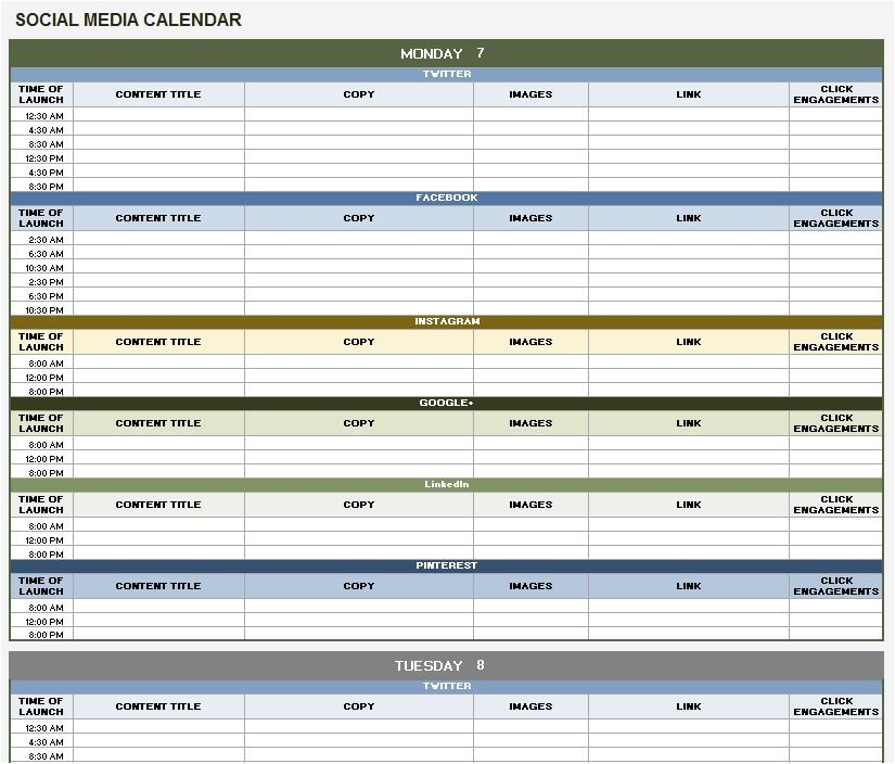 social media marketing plan template