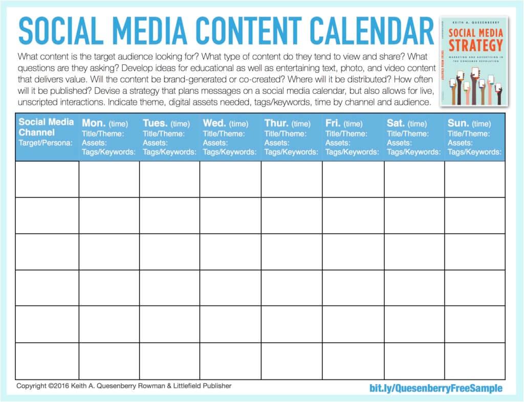 Social Media Posting Calendar Template social Media Templates Keith A Quesenberry
