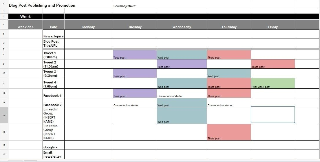 social media calendar guide
