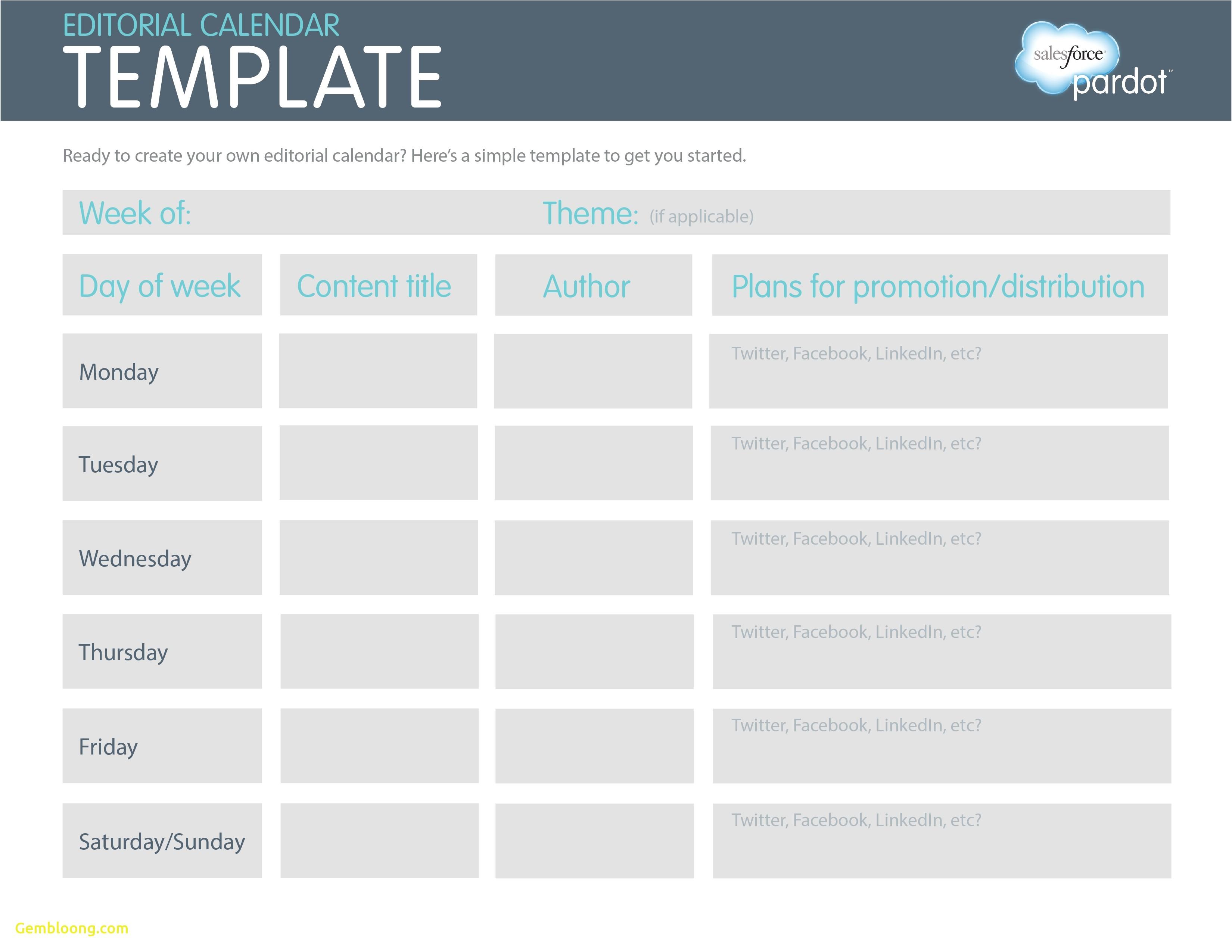Social Media Publishing Calendar Template Lovely social Media Editorial Calendar Template Best