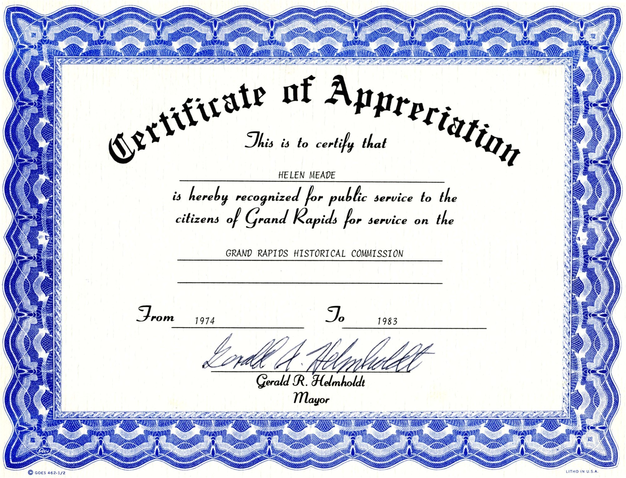 Template for A Certificate Of Appreciation Appreciation Certificate Templates Free Download