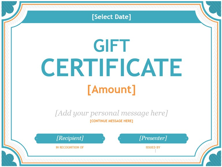 Template for Gift Certificate for Services 20 Printable Gift Certificates Certificate Templates