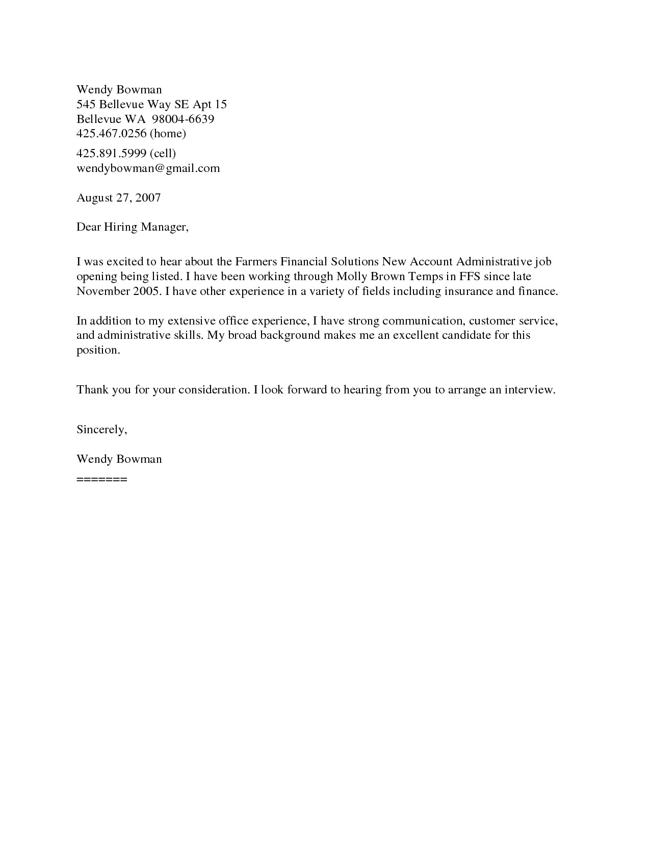 Template for Resume Cover Letter Example Of Cover Letter for Resume Template