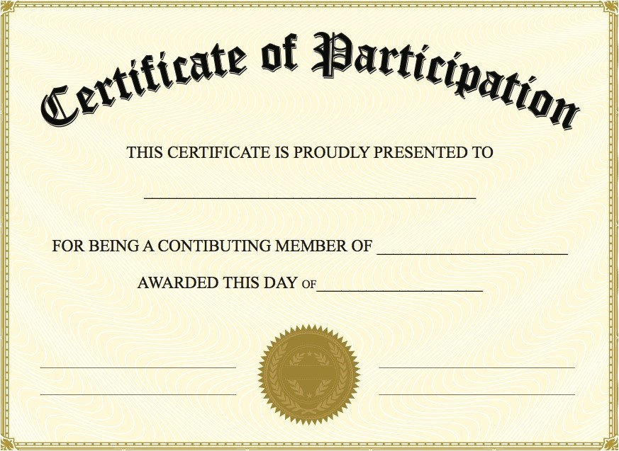6 new certificate of participation templates