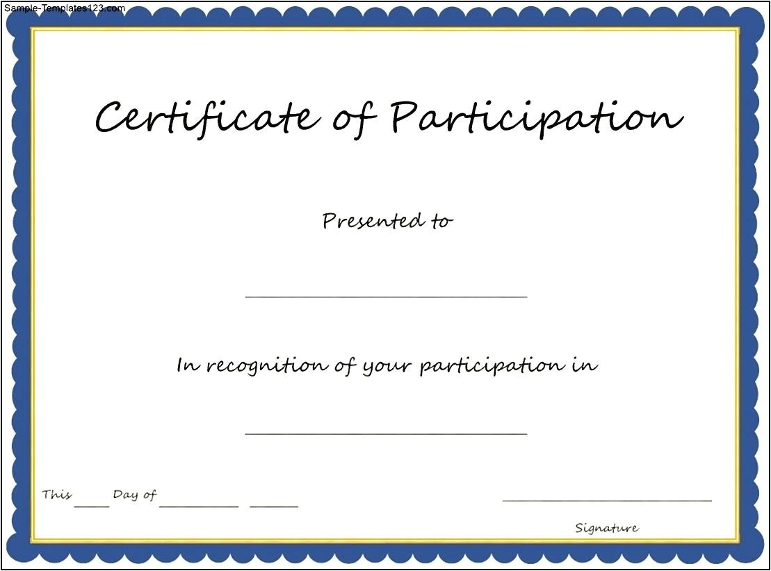 key components to include on certificate of participation template