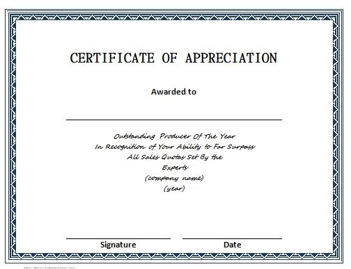 Templates for Certificates Of Recognition 30 Free Certificate Of Appreciation Templates and Letters