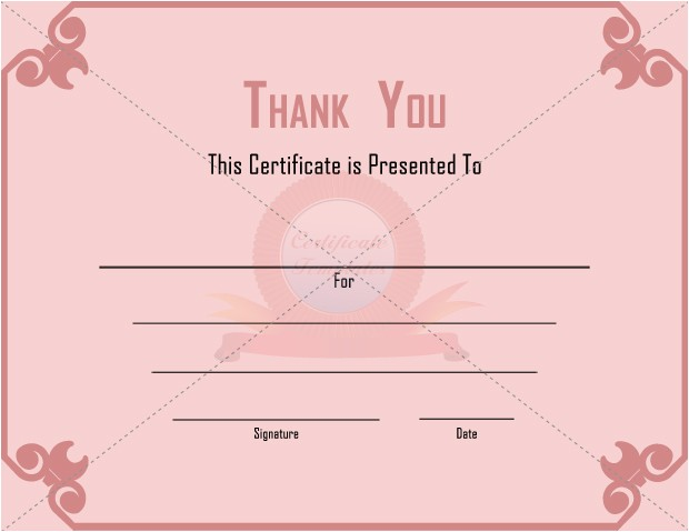 Thank You Gift Certificate Template 10 Best Images Of Thank You Donation Certificate Templates