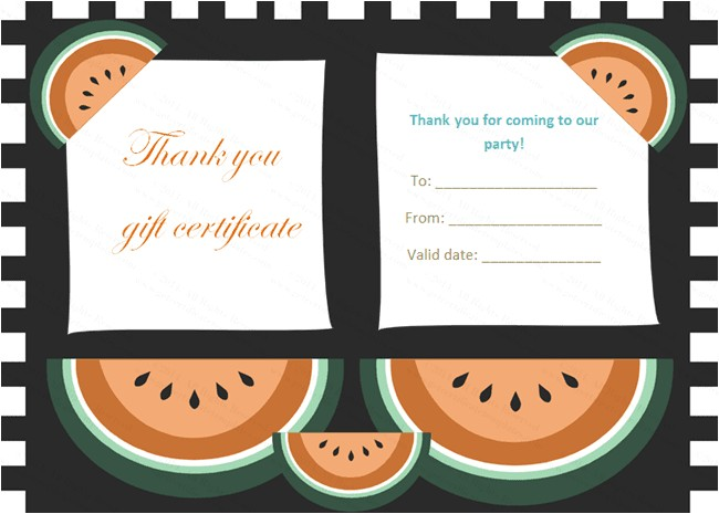 Thank You Gift Certificate Template Gift Certificate Templates Thank You Gift Certificate