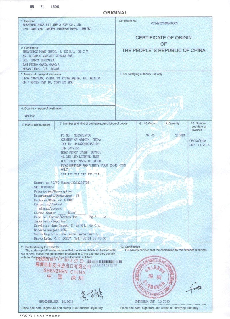 Us Certificate Of origin for Exports to israel Template China Certificate Of origin What An Importer Should Know