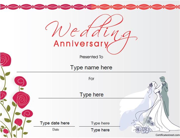certificates q anniversary