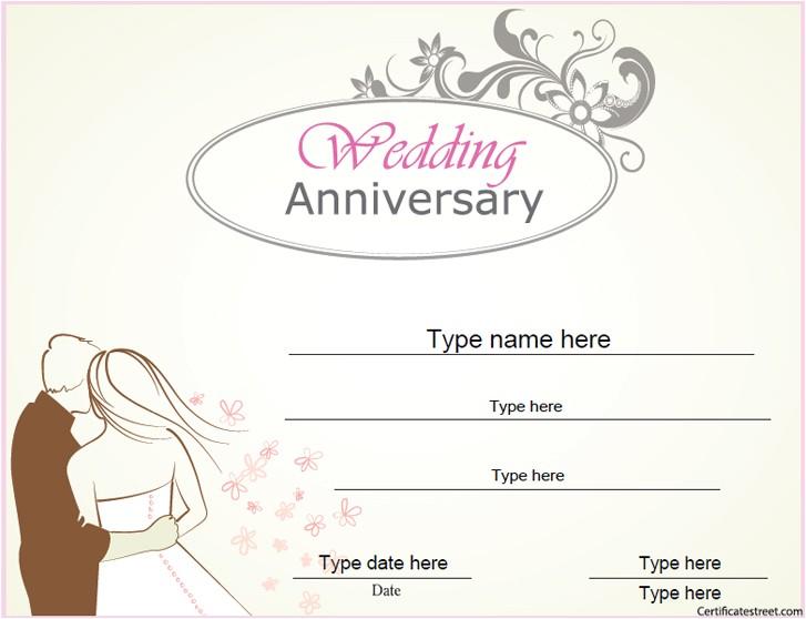 wedding anniversary certificate 704