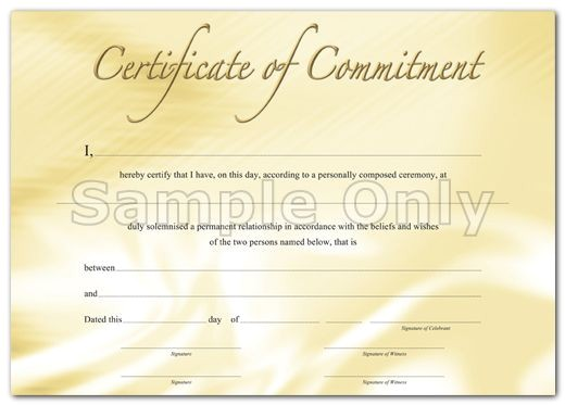 Wedding Ceremony Certificate Template 9 Best souvenir Wedding Commitment Certificates Images On