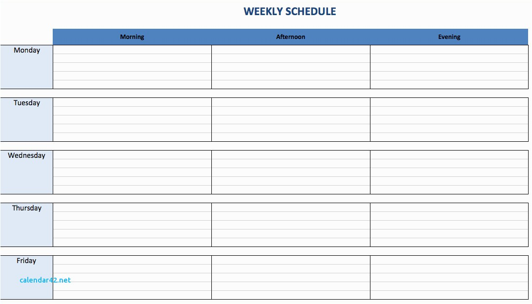 Weekly Appointment Calendar Template Fresh Weekly Calendar Appointment Template Calendar