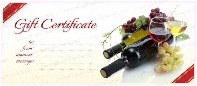 Wine Gift Certificate Template 19 Best Images About Diy Gift Certificate Voucher Card