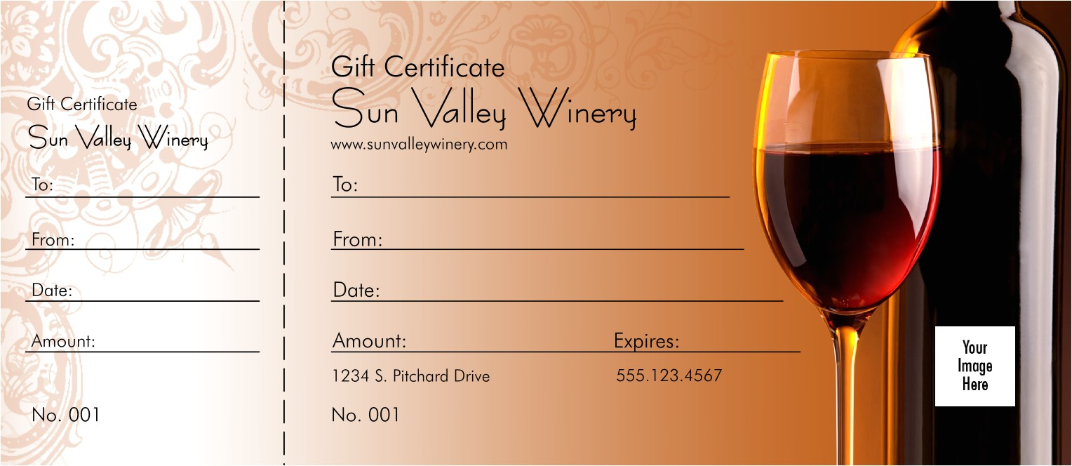 wine logo gift certificate redesigned product