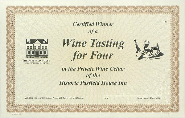 wine tasting gift certificate template