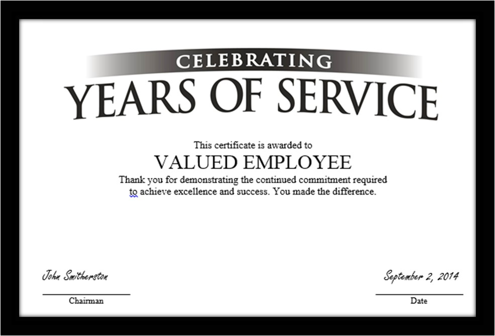 Work Anniversary Certificate Templates 30 Years Of High Performance for What Recognizethis