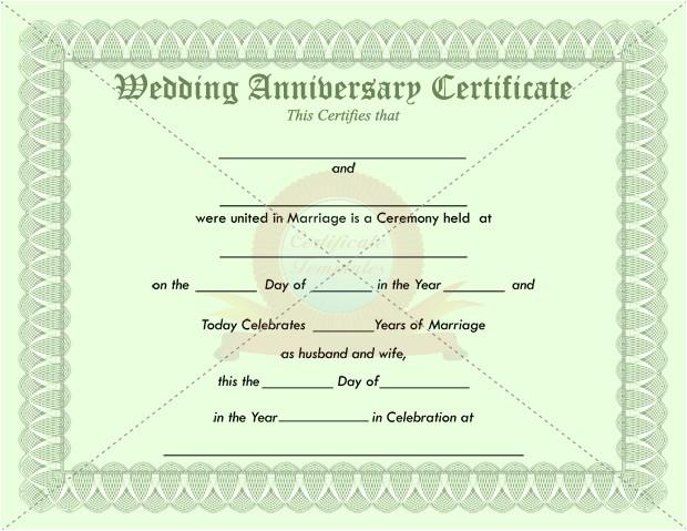 Work Anniversary Certificate Templates 7 Best Images Of Anniversary Certificate Wedding