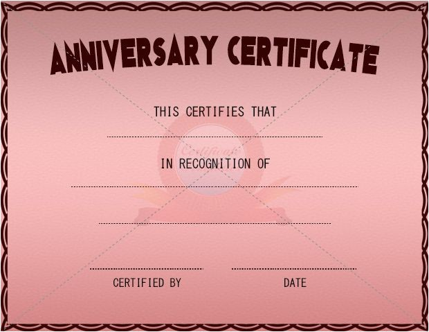Work Anniversary Certificate Templates Anniversary Certificate Anniversary Certificate