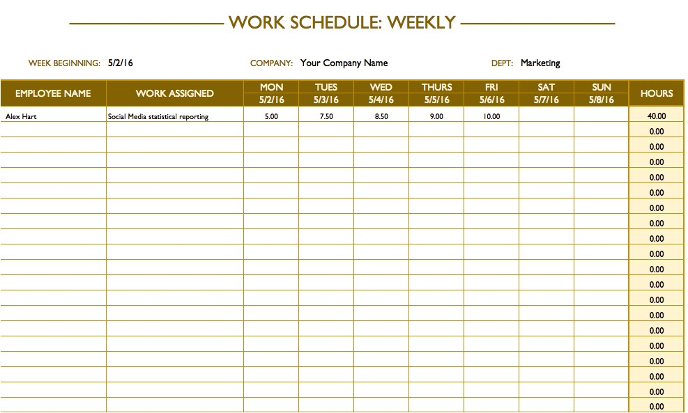 Work Calendars Templates Free Work Schedule Templates for Word and Excel